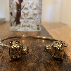 Anthropologie & Vintage Jaguar bracelet set